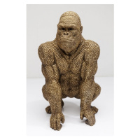Soška Gorila stojící Zlatá 80cm