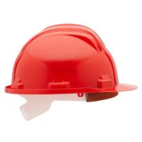 Ochranná přilba model bau, uni, červená