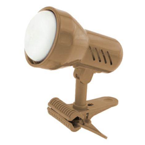 Lampička s klipem Temar E14 malá zlatý mat