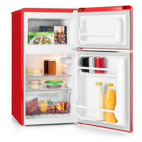 Klarstein Monroe Red kombinovaná chladnička s mrazákem 61/24 l A + retrolooku červená