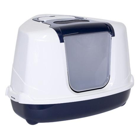 Toaleta Magic Cat Jumbo s krytem roh 59*45*39cm modrá
