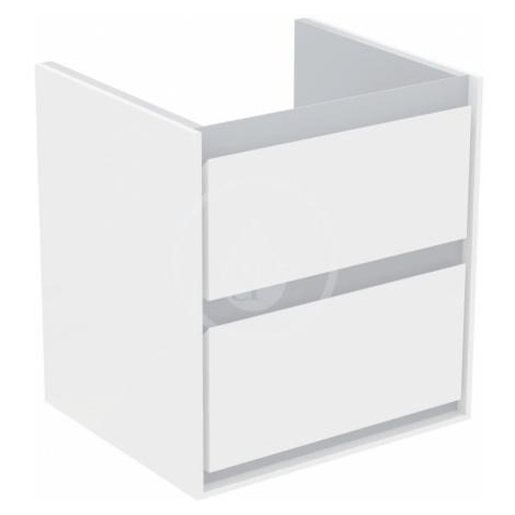 IDEAL STANDARD Connect Air Skříňka pod umyvadlo CUBE 550 mm, lesklý bílý/matný světle šedý lak E