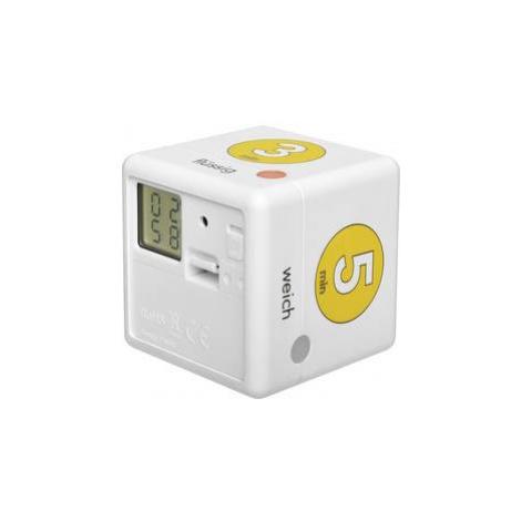 Kuchyňská minutka TFA Dostmann Cube Timer Ei, bílá, žlutá