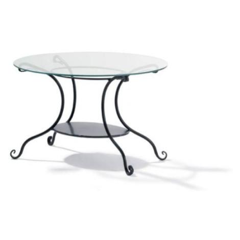 Černý kovaný konferenční stolek Cardiff FOR LIVING