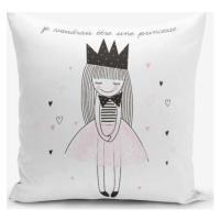 Povlak na polštář s příměsí bavlny Minimalist Cushion Covers Je Noudrais Etre Une Princesse, 45