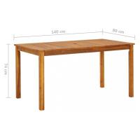 Zahradní stůl hnědá Dekorhome 200x90x74 cm