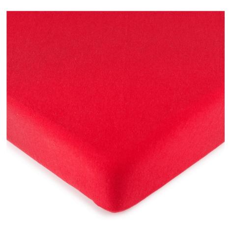 4Home jersey prostěradlo červená