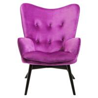Křeslo Vicky Velvet - fialové