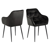 Dkton Designové židle Alarik šedá / hnědá