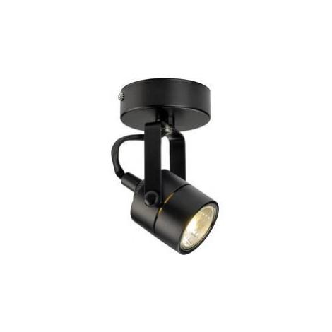 Stropní lampa halogenová žárovka GU10 50 W SLV Spot 79 132020 černá