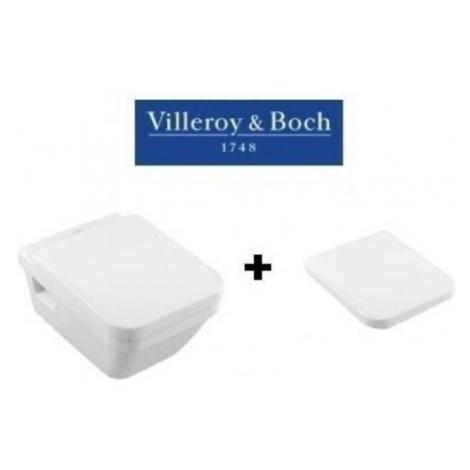 VILLEROY&BOCH Závěsná WC mísa VILLEYBOCH DIRECT + záchodové prkénko Villeroy & Boch