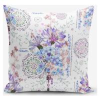 Povlak na polštář s příměsí bavlny Minimalist Cushion Covers Blue Purple Isleyen Carklar, 45 x 4