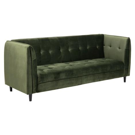 Dkton Designová rozkládací sedačka Alwyn 235 cm lesnická zelená
