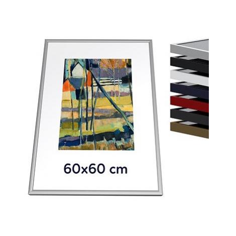 THALU Kovový rám 60x60 cm Stříbrná matná