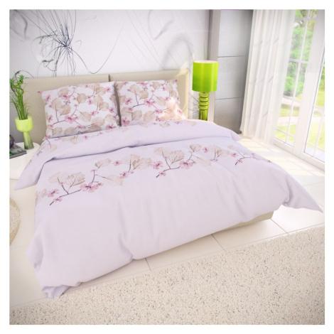 Bavlněné povlečení 140x200, 70x90 cm - MARY růžová Kvalitex