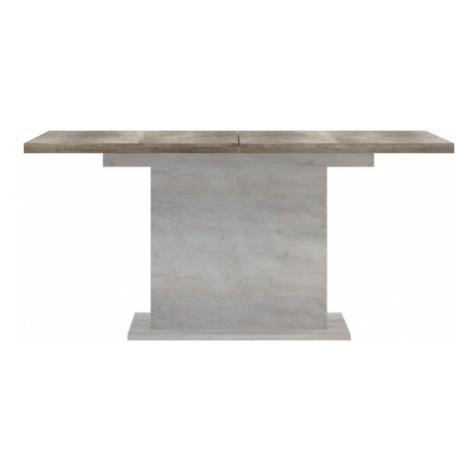 Sconto Jídelní stůl DURO pinie bílá/dub antik