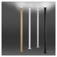 ALMA LIGHT BARCELONA Stojací lampa LED Pole, bílá texturovaná