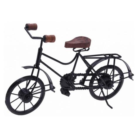 HOMESTYLING Dekorace stojící kovová Bicykl 36 cm černá