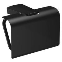SAPHO ZEN BLACK držák toaletního papíru s krytem 166473