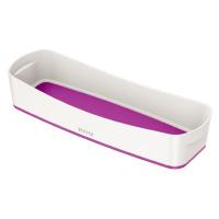 Bílo-fialový stolní organizér Leitz MyBox, délka 31 cm