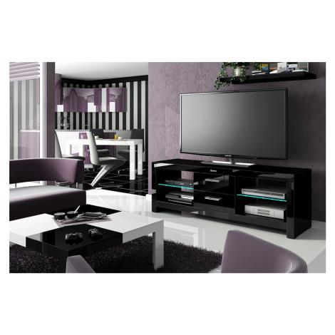 Hubertus Televizní stolek ANDORA Barva nábytku: Černý lesk