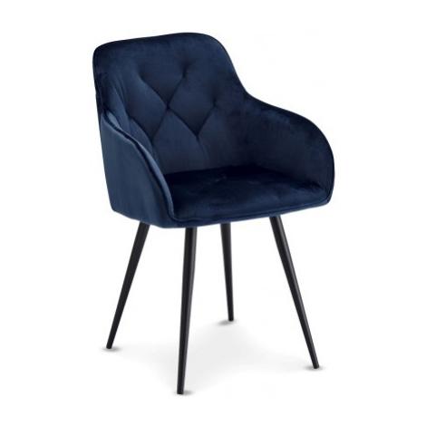 Jídelní židle jídelní židle fergo modrá, černá Furnhouse