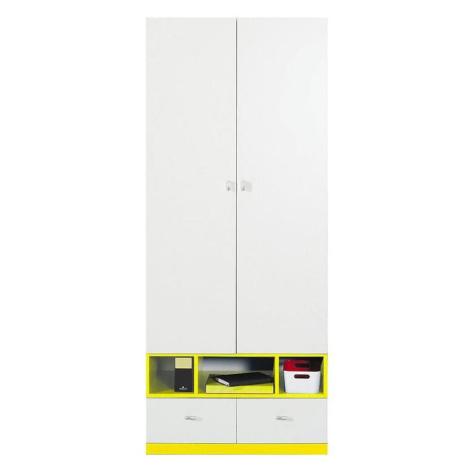 Skříň Mobi 80 cm, bílá / žlutá BAUMAX