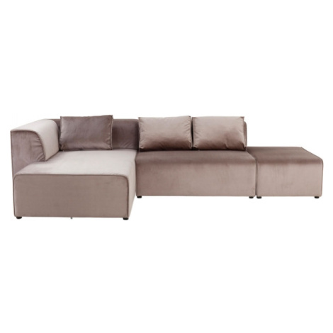 Rohová sedačka Infinity Velvet Taupe - béžová, levá Kare Design