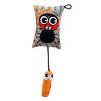 LET´S PLAY hračka polštářek motiv pavouk s catnip 9 cm
