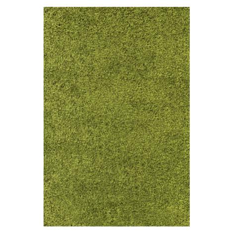 Chlupatý kusový koberec Life Shaggy 1500 zelený Typ: 60x110 cm Ayyildiz
