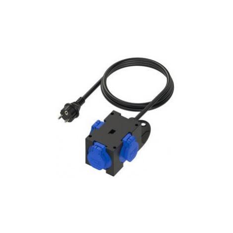 Zásuvková rozbočka PCE 9430409, 3 zásuvky, 1,5 m, IP44