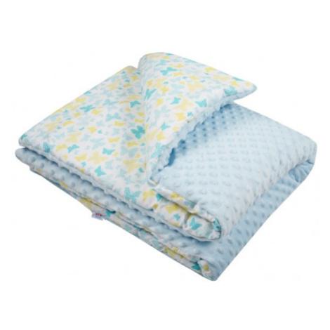 Dětská deka z Minky s výplní New Baby modrá 80x102 cm