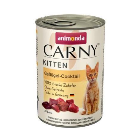 Animonda Carny Kitten 12 x 400 g - Drůbeží koktejl