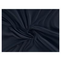 Saténové prostěradlo (120 x 200 cm) - tmavě modré