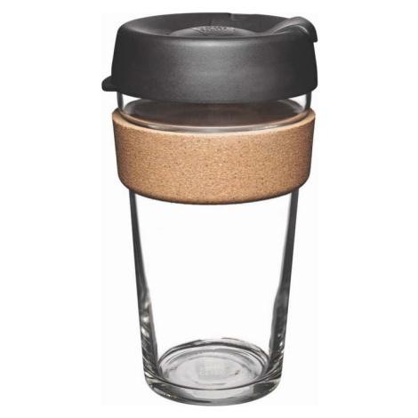Cestovní hrnek s víčkem KeepCup Brew Cork Edition Black, 454 ml