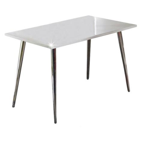 Jídelní stůl v moderním designu bílá ve vysokém lesku PEDRO Tempo Kondela