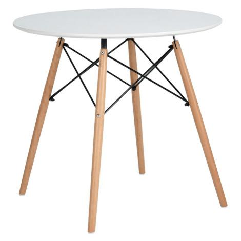 Jídelní stůl, bílá matná/buk, DEMIN Tempo Kondela