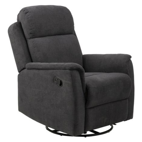 Dkton Luxusní relaxační křeslo Nanna tmavě šedé