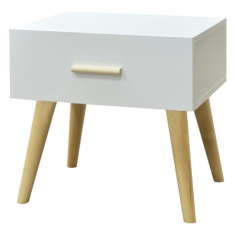 Sconto Noční stolek CRAZY bílá/buk