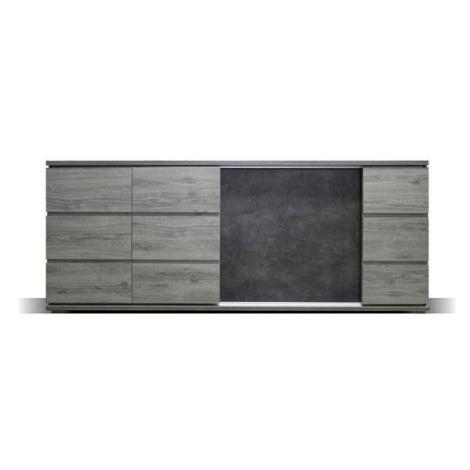 Obývací komoda Holm široká (figaro, beton)
