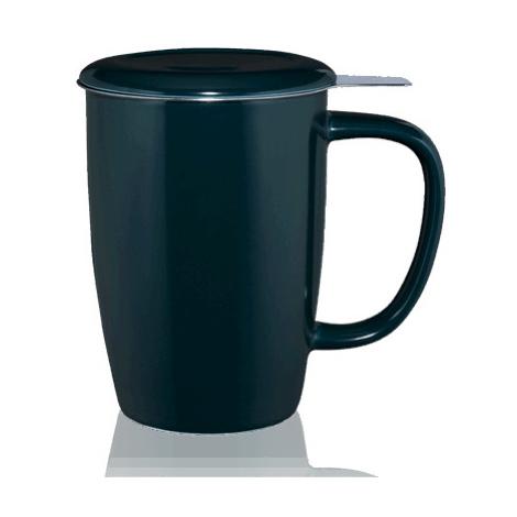Vysoký hrnek na čaj T.TOTEM s nerezovým sítkem, 0,44 l, šedý Kusmi Tea