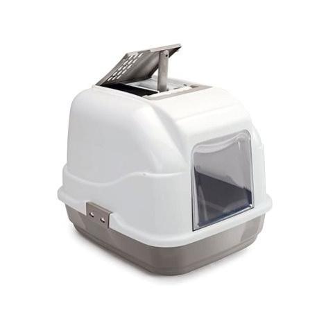 IMAC Krytý kočičí záchod s uhlíkovým filtrem a lopatkou - šedý - D 62 × Š 49,5 × V 47,5 cm