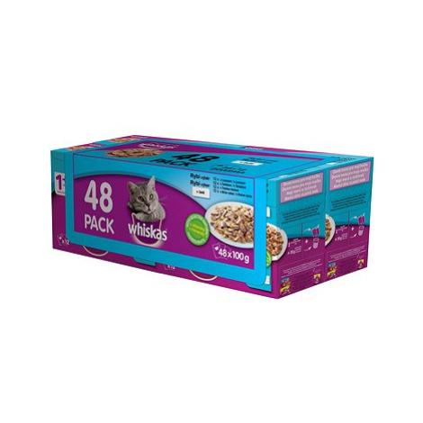 Whiskas kapsička rybí výběr v želé pro dospělé kočky 48 × 100 g