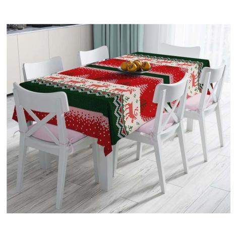 Vánoční ubrus s příměsí bavlny Minimalist Cushion Covers Merry Christmas, 140 x 180 cm
