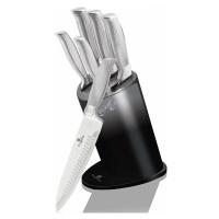 Sada nožů ve stojanu 6 ks Black Silver Metallic Line Kikoza Collection BERLINGERHAUS BH-2283