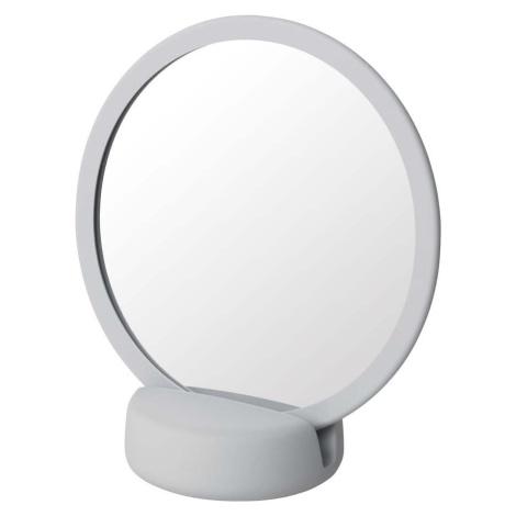 Světle šedé stolní kosmetické zrcadlo Blomus, výška 18,5 cm