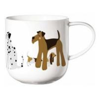 ASA Selection Hrnek s uchem COPPA CATS&DOGS 5   bílá