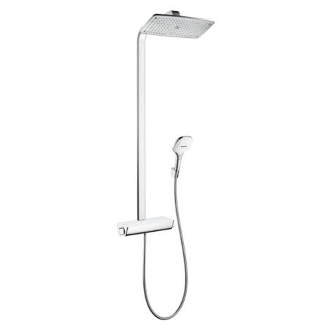 Sprchový systém Hansgrohe Raindance E na stěnu s termostatickou baterií bílá/chrom 27112400