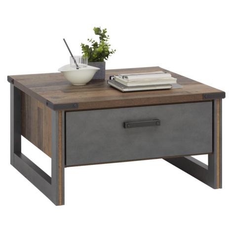 Hom`in KONFERENČNÍ STOLEK, šedá, barvy pinie, kompozitní dřevo, 80/80/44 cm
