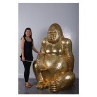 Dekorační figurka Gorilla Gold XL 180cm